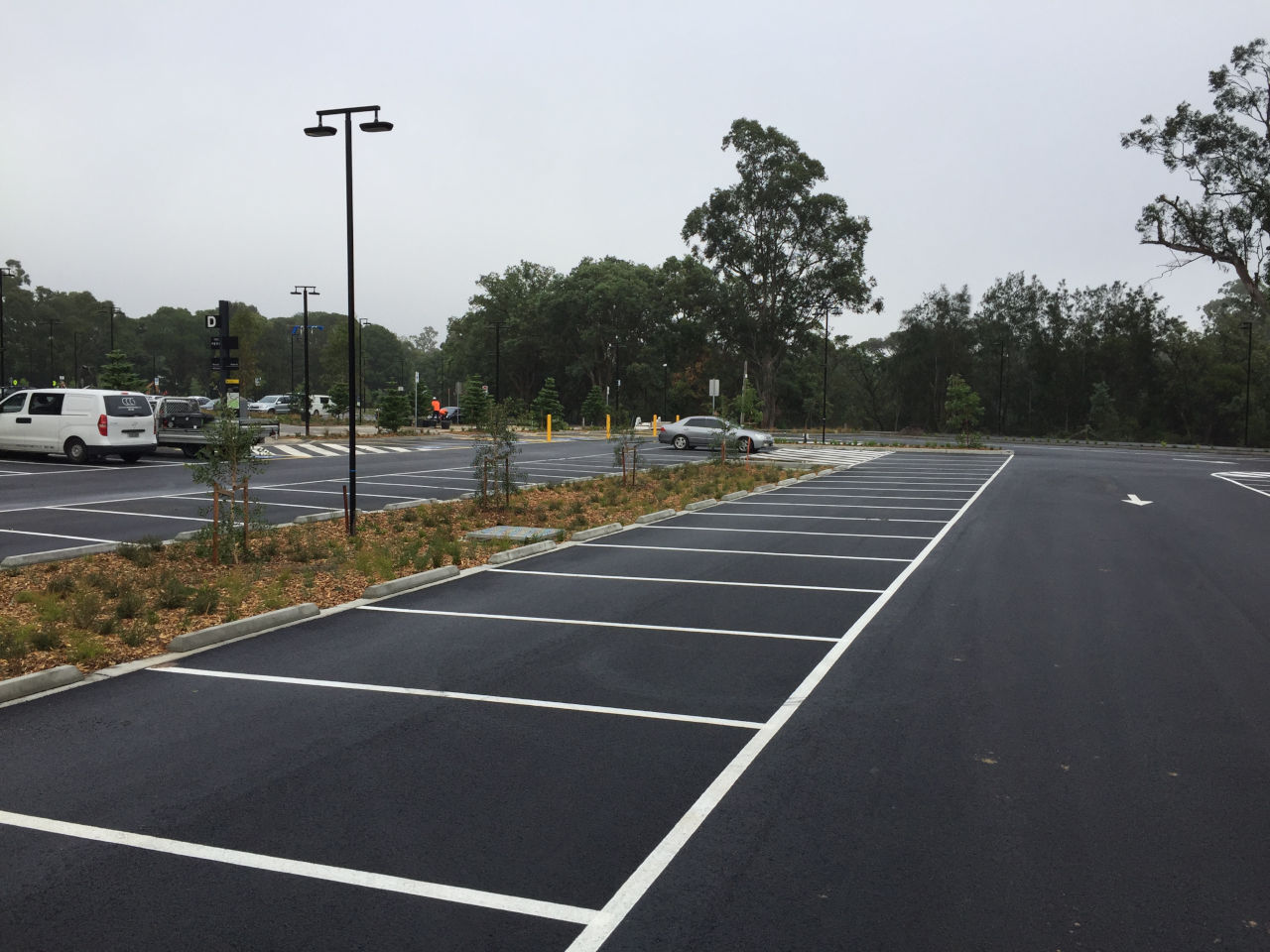Northern Car Park at Western Sydney Stadium