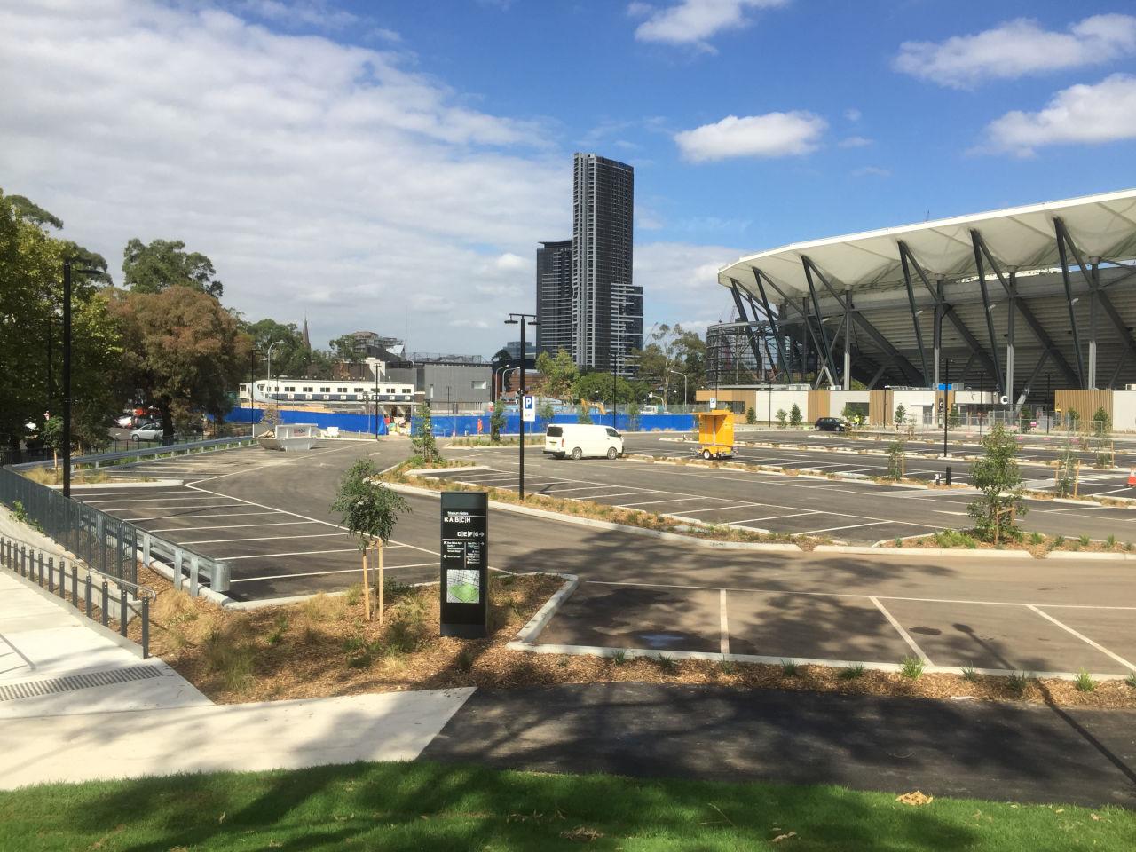 Northern Car Park at Western Sydney Stadium